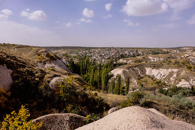 Hiking through Bahceli to Ayvali Village. Nevsehir Province, Turkey.