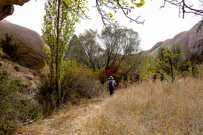 Hiking through the farming town of Kavak to Bahceli Village - Nevsehir Province, Turkey.