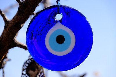 The blue evil eye - protection against evil and bad luck.