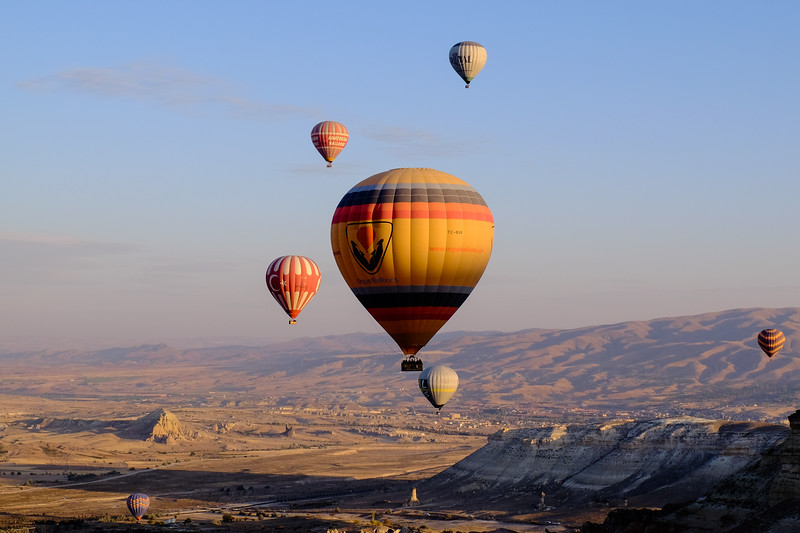Hot Air Ballooning over Cappadocia, Turkey.