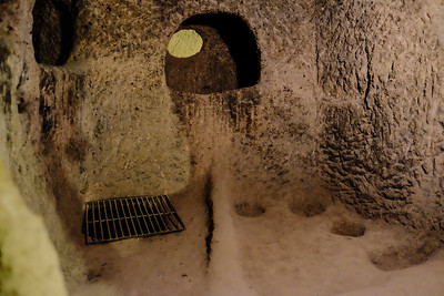 3rd floor down winery, kitchen areas - Kaymakli Underground City - Nevsehir Province, Turkey.