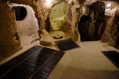 2nd floor down living area - Kaymakli Underground City - Nevsehir Province, Turkey.