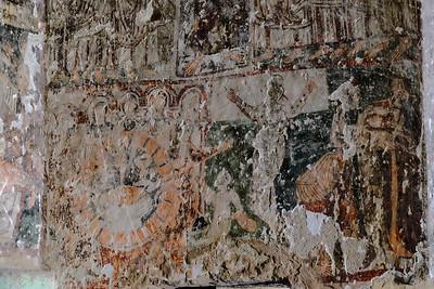 Fresco inside the Church of St. John the Baptist.