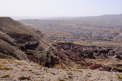 From the the top of Bozdag Mtn. Rose and Red Valleys - Cappadocia, Turkey.