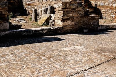 Mosaic walkway.
