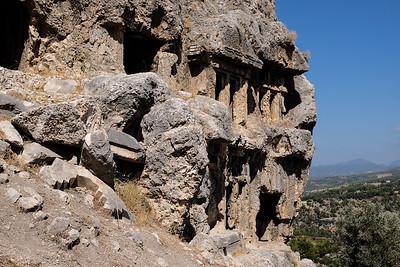Lycian rock cut tombs.
