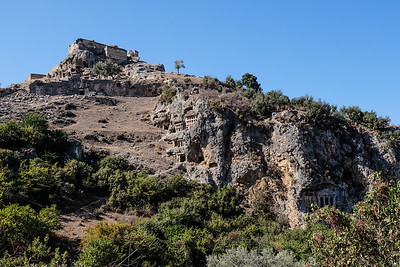 View of tombs up to the acropolis.