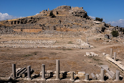 Acropolis hill and the Lycian Fortress of Kanlı Agi.