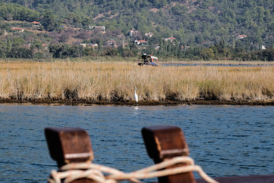 Meandering Dalyan River.