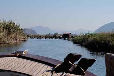 """River Dalyan - Dalyan means """"fishing weir"""" in Turkish."""