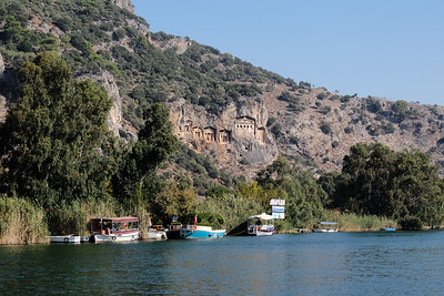 Approaching the Temple style Rock-Cut Tombs of Kaunos.