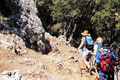 Hiking onward to Manastir Bay. Turkey.