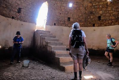 Inside the cistern. A bit dry.