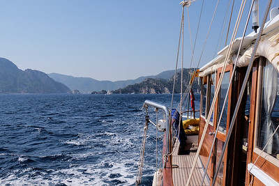 From Marmaris Bay (Paradise Island) to Semizce Bay, Turkey.