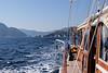 From Marmaris Bay (Paradise Island) to Semizce Bay, Turkey.