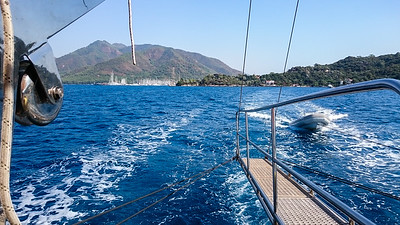Cruising out of Marmaris Harbor.