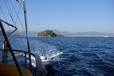 Hiking paradise Island (Nimara Peninsula) - Marmaris Bay, Turkey.
