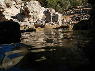 Manastir Bay and Cleopatra's Baths. Turkey.