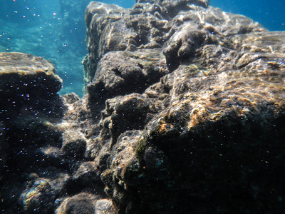 Ruins of the baths underwater.