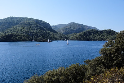 Morning hike from Manastir Bay to Sarsala Bay, Turkey.