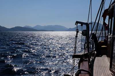 Cruising from Sarsala Bay to the Gocek Island of Yassica - Gocek, Turkey.