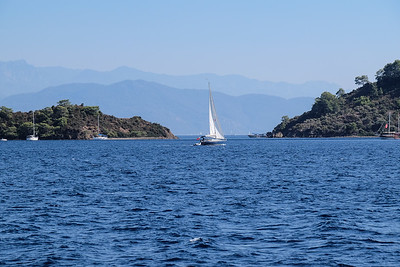Cruising through the Gocek Islands.