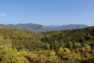 Mountain views partway up.