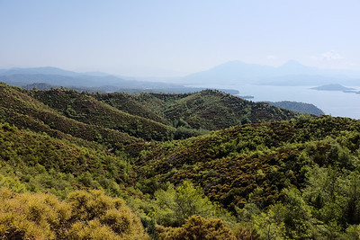 Hiking from a beach in Kucuk Kargi Bay - Fethiye Bay, Turkey.