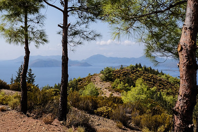 Hiking from a beach in Kucuk Kargi Bay - Fethiye Bay, Turkey.