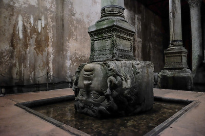 """Medusa Head """"acquired"""" by the Byzantine for use as a column base."""