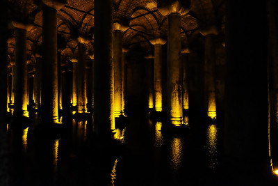 The cistern is approximately 105,000 sq. ft.