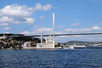 Ortakoy Mosque and the Bosphorus Bridge.