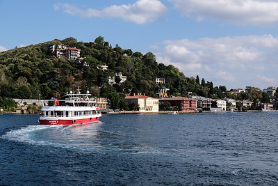 Turning toward the Asian side of Istanbul.