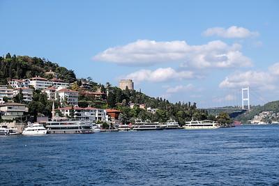 Approaching the Rumeli Hisarı Fortress and Faith Bridge.