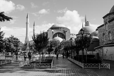 The Haghia Sophia originally built in 532 - 537 AD.