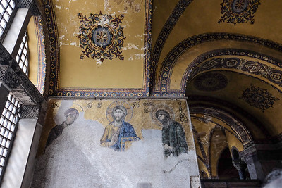 13th century mosaic panel.