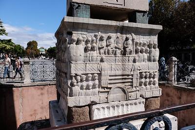 The base of the Obelisk of Thutmose III.