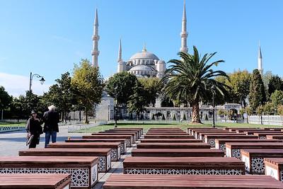 Blue Mosque built 1609 - 1616.