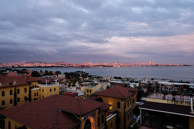 Rose glow over Istanbul.