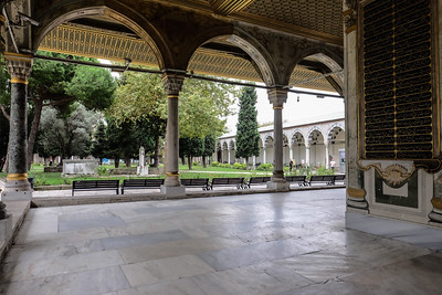 View the courtyard of The Divan.