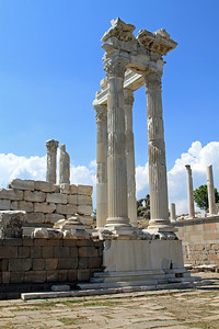 Pergamum - Marble columns from theTemple of Trajan.