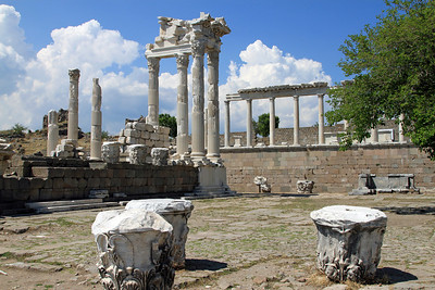 Pergamum - Remains of the Temple of Trajan.