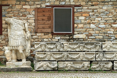 Aphrodisias - Collection of statues and carved stonework from the Roman city.