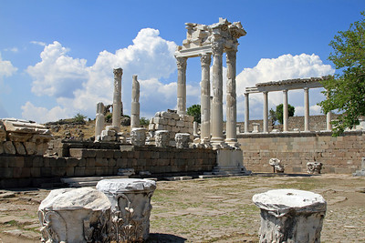 Pergamum - Remains of theTemple of Trajan.