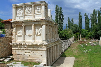 Aphrodisias - The Sebasteion, excavated in 1979-81, was a grandiose temple complex dedicated to Aphrodite and the Julio-Claudian emperors.