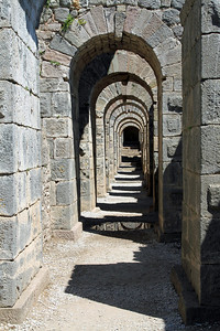 Pergamum - Arches under the Temple of Trajan.