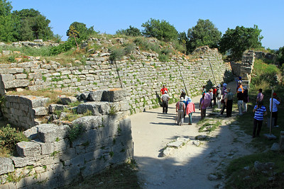 Troy - Outer wall and East Wall gate, entrance into ancient Troy.