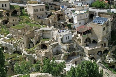 Houses in Uchisar, Cappadocia.