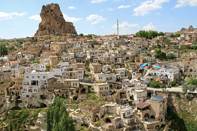 The town of Uchisar (where I stayed) with Uchisar Castle (a tall volcanic outcrop riddled with tunnels).