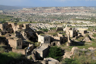 View from Uchisar Castle towards Goreme.